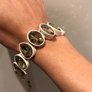 J.Crew creme brulee rock crystal bracelet